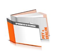 Hardcover Bücher drucken Efalin Deckeleinband Pey Deckeleinband bedruckter Vorsatz & Nachsatz gerader Buchrücken Fadenheftung Buchdruck im Querformat