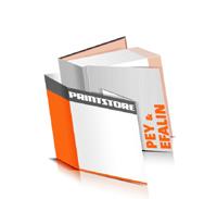 Hardcover Bücher drucken Efalin Deckeleinband Pey Deckeleinband bedruckter Vorsatz & Nachsatz gerader Buchrücken Fadenheftung Buchdruck im Quadratformat