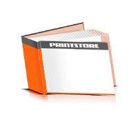 Hardcover Bücher drucken Papier Deckeleinband bedruckter Vorsatz & Nachsatz gerader Buchrücken Fadenheftung Buchdruck im Querformat