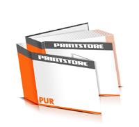 Hardcover Bücher drucken Schutzumschlag Papier Deckeleinband gerader Buchrücken PUR-Klebebindung Buchdruck im Querformat
