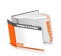 Hardcover Bücher drucken Leinen Deckeleinband gerader Buchrücken PUR-Klebebindung Buchdruck im Querformat