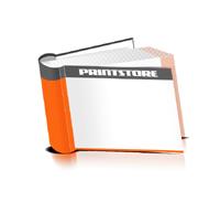 Hardcover Bücher drucken Papier Deckeleinband runder Buchrücken Fadenheftung Buchdruck im Querformat