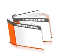 Hardcover Bücher drucken Schutzumschlag Papier Deckeleinband runder Buchrücken Fadenheftung Buchdruck im Querformat