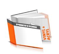 Hardcover Bücher drucken Acryl Deckeleinband Vinyl Deckeleinband gerader Buchrücken Fadenheftung Buchdruck im Querformat