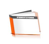 Softcover Broschüren drucken  4 Seiten Umschlag Klebebindung Querformat
