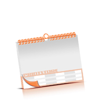 Bild-Kalender drucken OHNE Kalenderdeckblatt Kalenderblätter beidseitiger Druck Wire-O Bindungen Kalenderdruck im Querformat