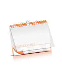 Bild-Kalender drucken PVC-Titel-Blatt OHNE Kalenderdeckblatt Kalenderblätter beidseitiger Druck Wire-O Bindungen Kalenderdruck im Querformat