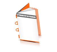 Kataloge drucken  6 Seiten Umschlag Kombinationsheftung  2 Ringösen &  2 Heftklammern