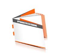 Broschüren drucken  8 Seiten Umschlag Rückendrahtheftung  2 Heftklammern Querformat