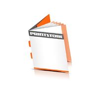 Broschüren drucken  6 Seiten Umschlag Rückendrahtheftung  2 Heftklammern Quadratformat