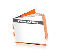 Broschüren drucken  6 Seiten Umschlag Rückendrahtheftung  2 Heftklammern Querformat