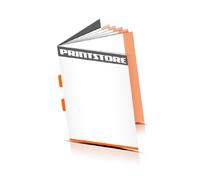Broschüren drucken  4 Seiten Umschlag Rückendrahtheftung  2 Heftklammern Hochformat