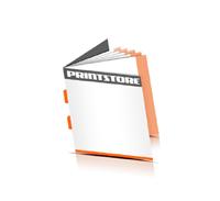 Broschüren drucken  4 Seiten Umschlag Rückendrahtheftung  2 Heftklammern Quadratformat