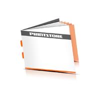 Broschüren drucken  4 Seiten Umschlag Rückendrahtheftung  2 Heftklammern Querformat