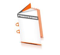 Preislisten drucken  6 Seiten Umschlag Ringösenheftung  2 Ringösen Hochformat