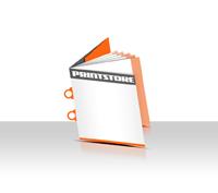 Preislisten drucken  6 Seiten Umschlag Ringösenheftung  2 Ringösen Quadratformat