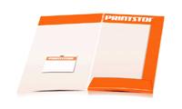 Angebotsmappen drucken stanzen & falten Visitenkarten-Taschen Beidseitige Angebotsmappen geschlossen A4 Überformat