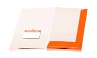 Angebotsmappen drucken stanzen & falten Visitenkarten-Taschen Einseitige Angebotsmappen geschlossen A4 Überformat