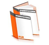 Hardcover Bücher drucken Schutzumschlag Papier Deckeleinband bedruckter Vorsatz & Nachsatz gerader Buchrücken PUR-Klebebindung Buchdruck im Hochformat