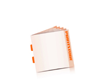 Prospekte drucken Rückendrahtheftung  2 Heftklammern Quadratformat