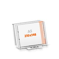 Blöcke drucken Versandverpackung 2-fach Bohrung Blöcke  A5  quer (210x148mm)