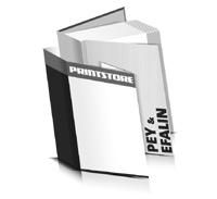 Bücher drucken Efalin Buchüberzug Pey Buchüberzug bedruckter Vorsatz & Nachsatz gerader Buchrücken Fadenheftung Buchdruck im Hochformat
