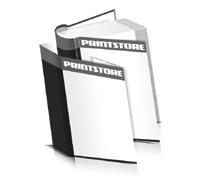 Hardcover Bücher drucken Schutzumschlag Papier Deckeleinband runder Buchrücken Fadenheftung Buchdruck im Hochformat