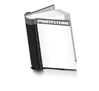 Bücher drucken Papier Buchüberzug bedruckter Vorsatz & Nachsatz runder Buchrücken Fadenheftung Buchdruck im Hochformat