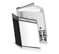 Hardcover Bücher bedrucken Acryl Buchüberzug Vinyl Buchüberzug bedruckter Vorsatz & Nachsatz runder Buchrücken Fadenheftung Buchdruck im Hochformat