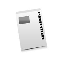 Briefumschläge drucken C4, Lasche an der kurzen Seite