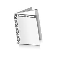 Digitaldruck Broschüren  2-seitiges Deck-Blatt und  2-seitiges Schluss-Blatt Digitaldruck Broschüren mit Wire-O Bindung Drahtkamm links Hochformat