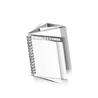Preislisten drucken  1 PVC Titel-Blatt und  1 PVC End-Blatt Deck-Blatt  2 Seiten Schluss-Blatt  6 Seiten Preislisten mit Wire-O Bindung Drahtkamm links Quadratformat