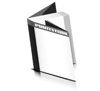 Softcover Broschüren drucken  8 Seiten Umschlag Fadenbindung Hochformat