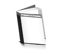 Flexocover-Bücher drucken Papier Buchdeckeleinband Vorsatz & Nachsatz bedruckt gerader Buchrücken Fadenheftung Buchdruck im Hochformat