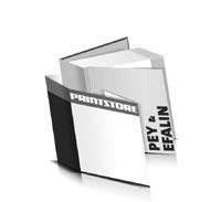 Bücher drucken Efalin Buchüberzug Pey Buchüberzug bedruckter Vorsatz & Nachsatz gerader Buchrücken Fadenheftung Buchdruck im Quadratformat