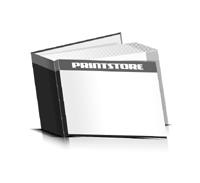 Hardcover Bücher drucken Papier Deckeleinband gerader Buchrücken Fadenheftung Buchdruck im Querformat