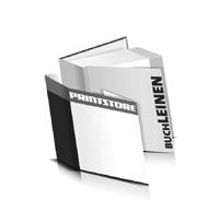 Hardcover Bücher bedrucken Leinen Buchüberzug gerader Buchrücken Fadenheftung Buchdruck im Quadratformat