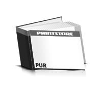 Hardcover Bücher drucken Papier Deckeleinband gerader Buchrücken PUR-Klebebindung Buchdruck im Querformat