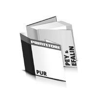Bücher drucken Efalin Buchüberzug Pey Buchüberzug bedruckter Vorsatz & Nachsatz gerader Buchrücken PUR-Klebebindung Buchdruck im Quadratformat
