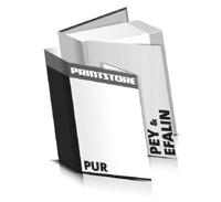Bücher drucken Efalin Buchüberzug Pey Buchüberzug bedruckter Vorsatz & Nachsatz gerader Buchrücken PUR-Klebebindung Buchdruck im Hochformat