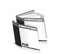Hardcover Bücher drucken Schutzumschlag Papier Deckeleinband bedruckter Vorsatz & Nachsatz gerader Buchrücken PUR-Klebebindung Buchdruck im Quadratformat