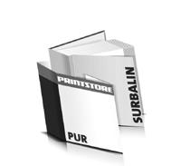 Bücher drucken Surbalin Buchüberzug gerader Buchrücken PUR-Klebebindung Buchdruck im Quadratformat