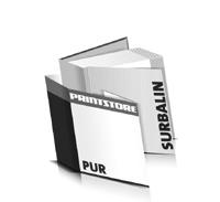 Bücher drucken Surbalin Buchüberzug bedruckter Vorsatz & Nachsatz gerader Buchrücken PUR-Klebebindung Buchdruck im Quadratformat