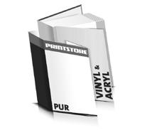 Hardcover Buch Acryl Buchdeckel Vinyl Buchdeckel gerader Buchrücken PUR-Klebebindungen Hardcover im Hochformat