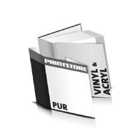 Hardcover Buch Acryl Buchdeckel Vinyl Buchdeckel gerader Buchrücken PUR-Klebebindungen Hardcover im Quadratformat