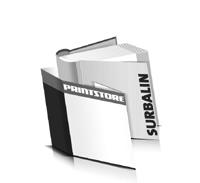Bücher drucken Surbalin Buchüberzug bedruckter Vorsatz & Nachsatz runder Buchrücken Fadenheftung Buchdruck im Quadratformat