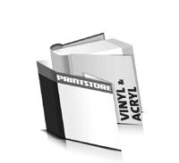 Hardcover Bücher bedrucken Acryl Buchüberzug Vinyl Buchüberzug bedruckter Vorsatz & Nachsatz runder Buchrücken Fadenheftung Buchdruck im Quadratformat