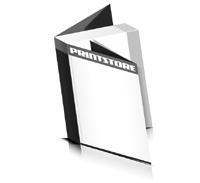 Softcover Kataloge drucken  8 Seiten Umschlag Klebebindung Hochformat