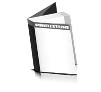 Softcover Broschüren drucken  6 Seiten Umschlag Klebebindung Hochformat