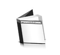Softcover Kataloge drucken  6 Seiten Umschlag Klebebindung Quadratformat